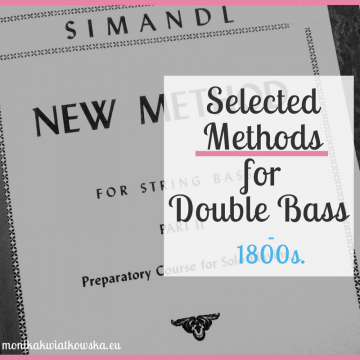 Selected Methods for Double Bass (1800s.)