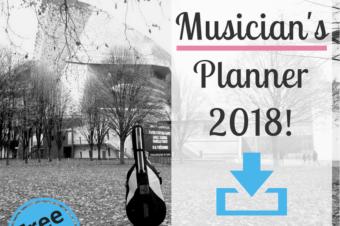 Musician's Planner for 2018!