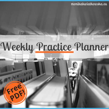 Tygodniowy dziennik ćwiczeń muzyka