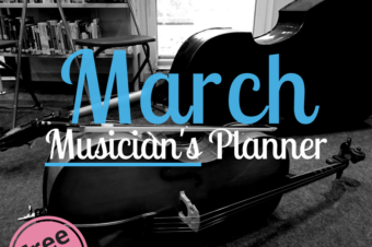 March | Musician's Planner 2018