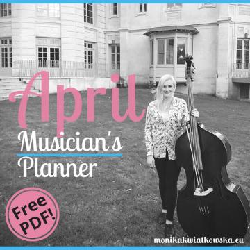 April | Musician's Planner 2018